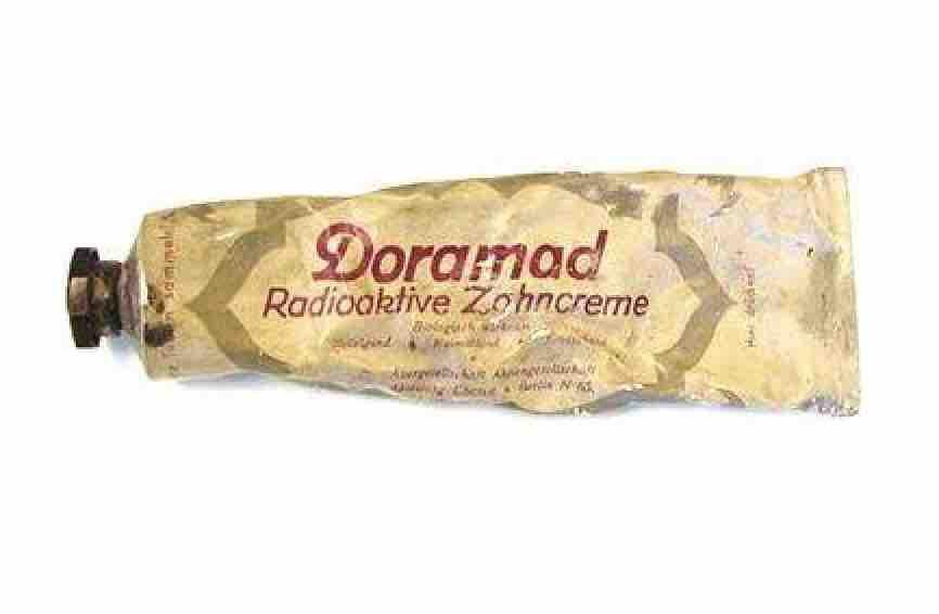 Unglaublich Radioaktive Zahnpasta Doramad Zahncreme Mit Thorium X