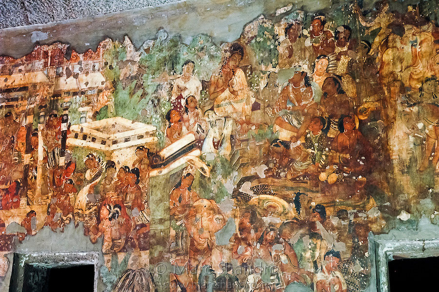 The composition and perspective of ajanta part 2 amar for Ajanta mural painting