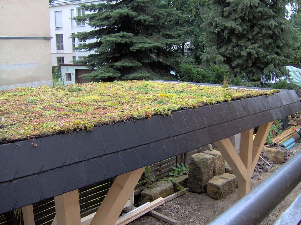 Carport mit Gründach - Was müssen sie beachten? - Solarterrassen ...