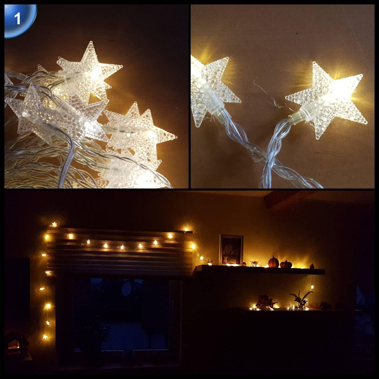 Bewertung parsion 40 leds sterne lichterkette kim bottenhorn - Led weihnachtsbeleuchtung mit fernbedienung ...