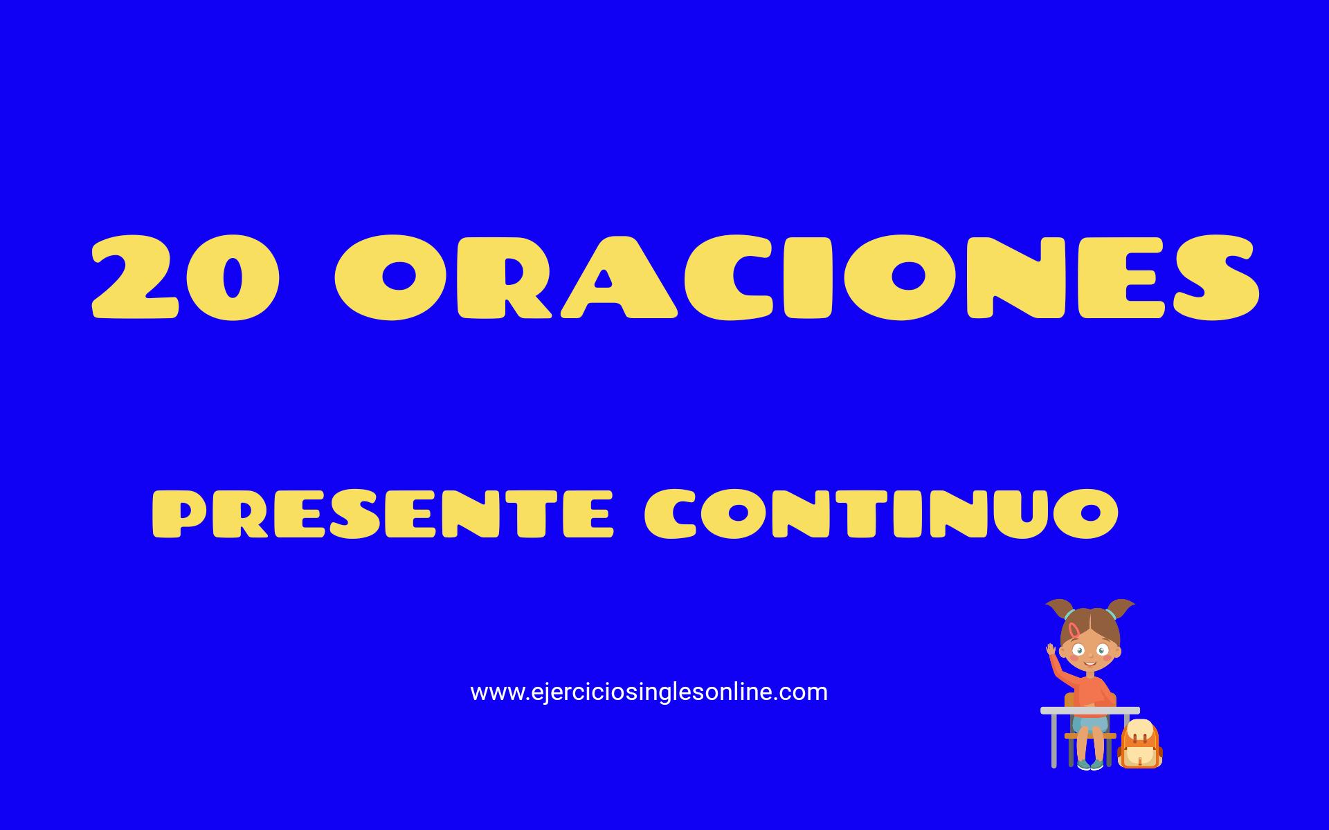 Ejemplos Presente Continuo En Inglés Ejercicios Inglés Online