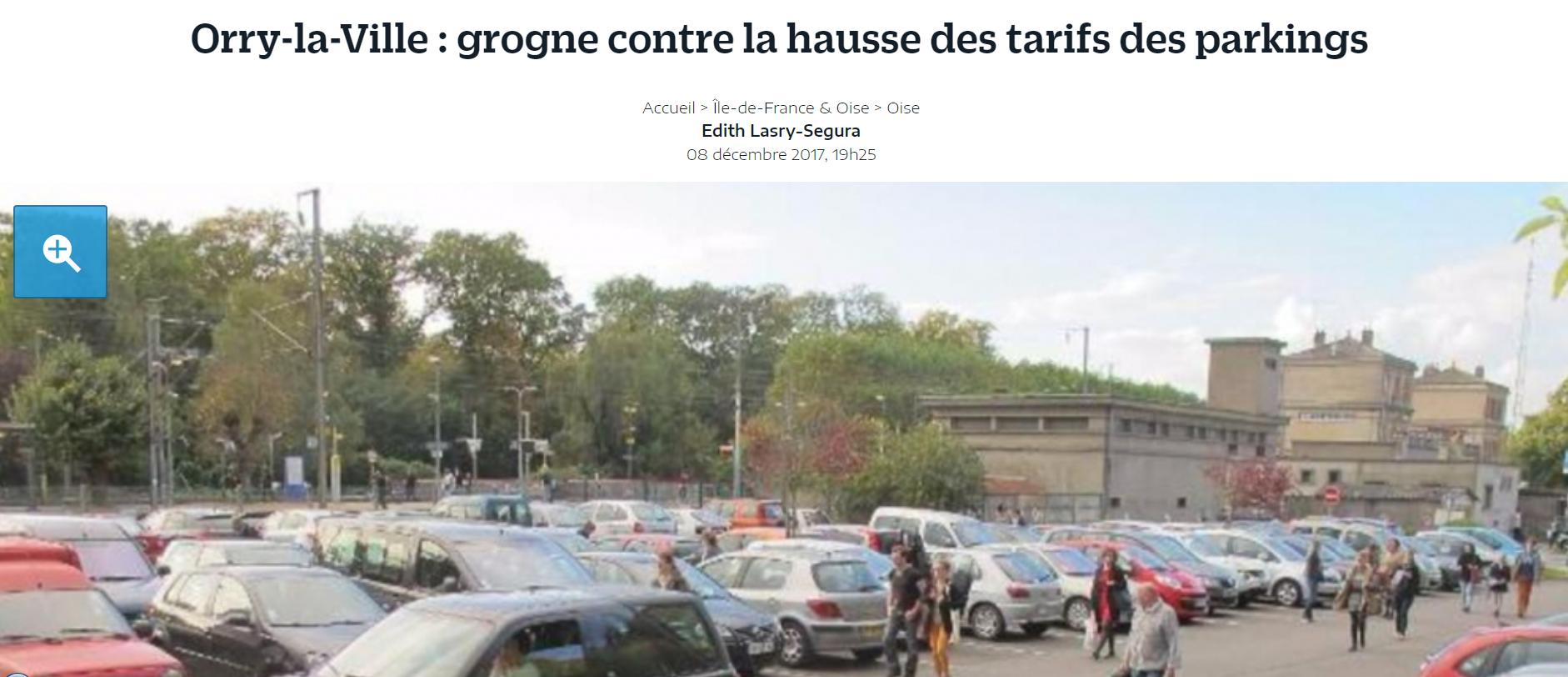 article le parisien grogne contre la hausse des tarifs du parking la vie d 39 orry. Black Bedroom Furniture Sets. Home Design Ideas