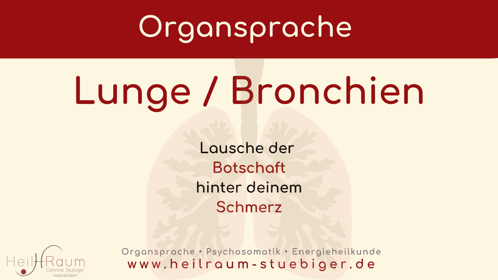 Organsprache Lungen C Stubiger Heilpraktikerin Munchen Starnberg