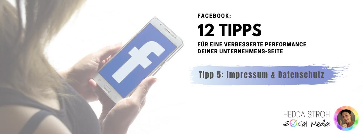 Facebook Seite Impressum