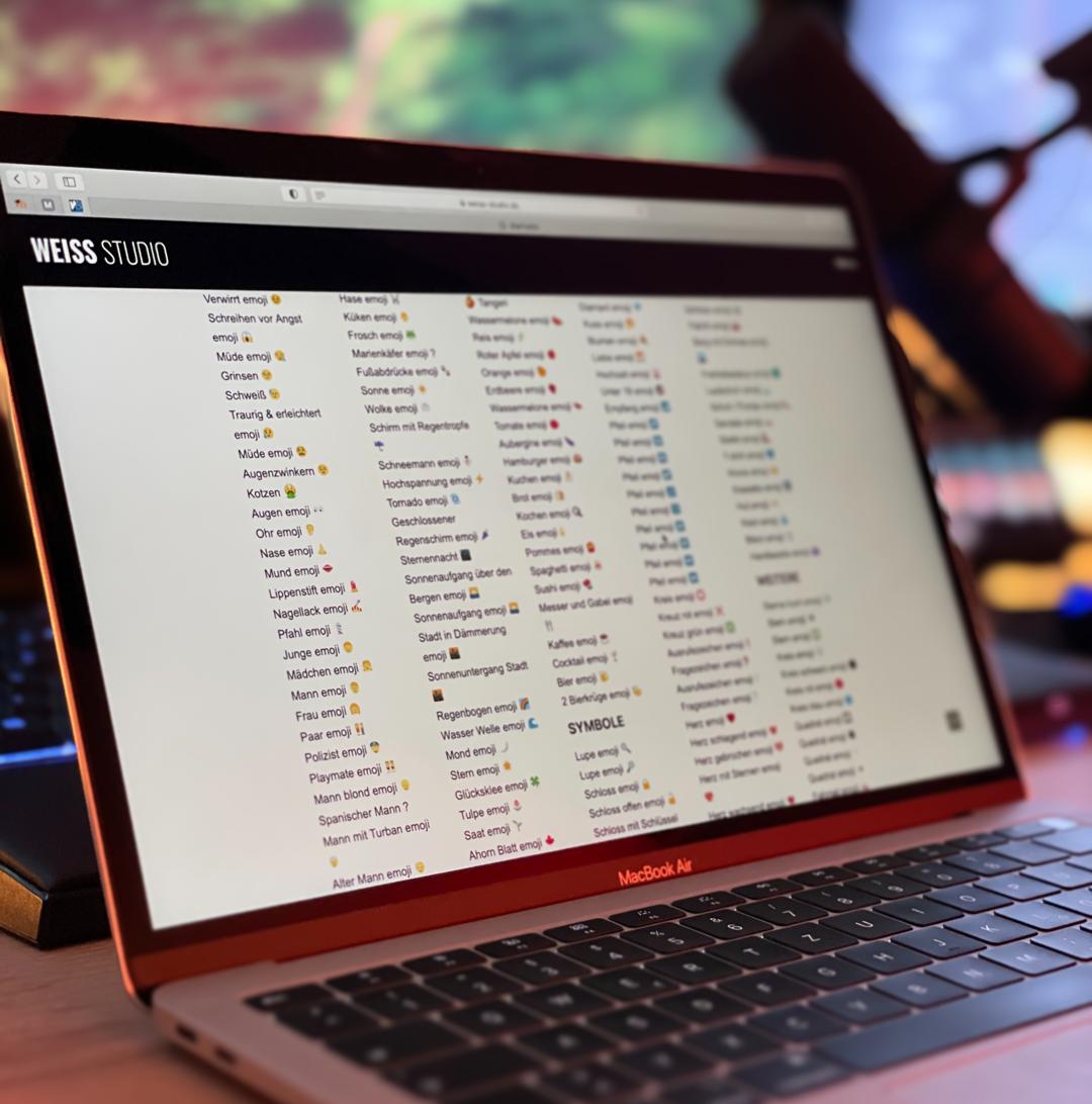 Liste zum kopieren emoticons 🍏 Apple