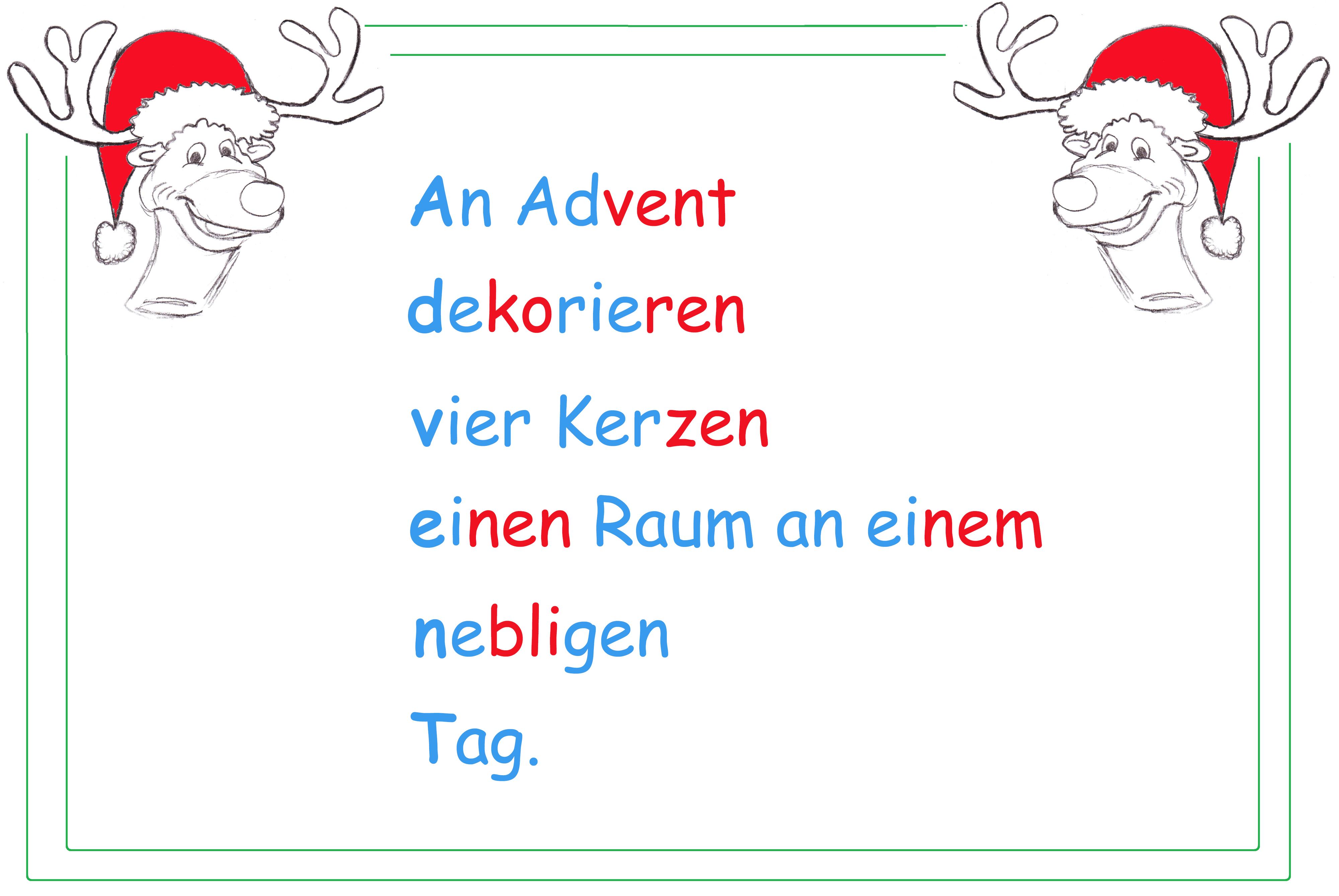 Akrostichon zur Adventszeit - Lernwerkstatt für Deutsch