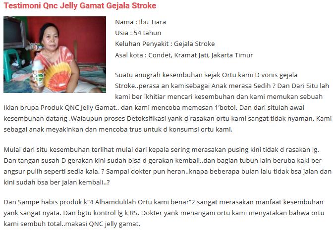 Testimoni Jelly Gamat Untuk Stroke