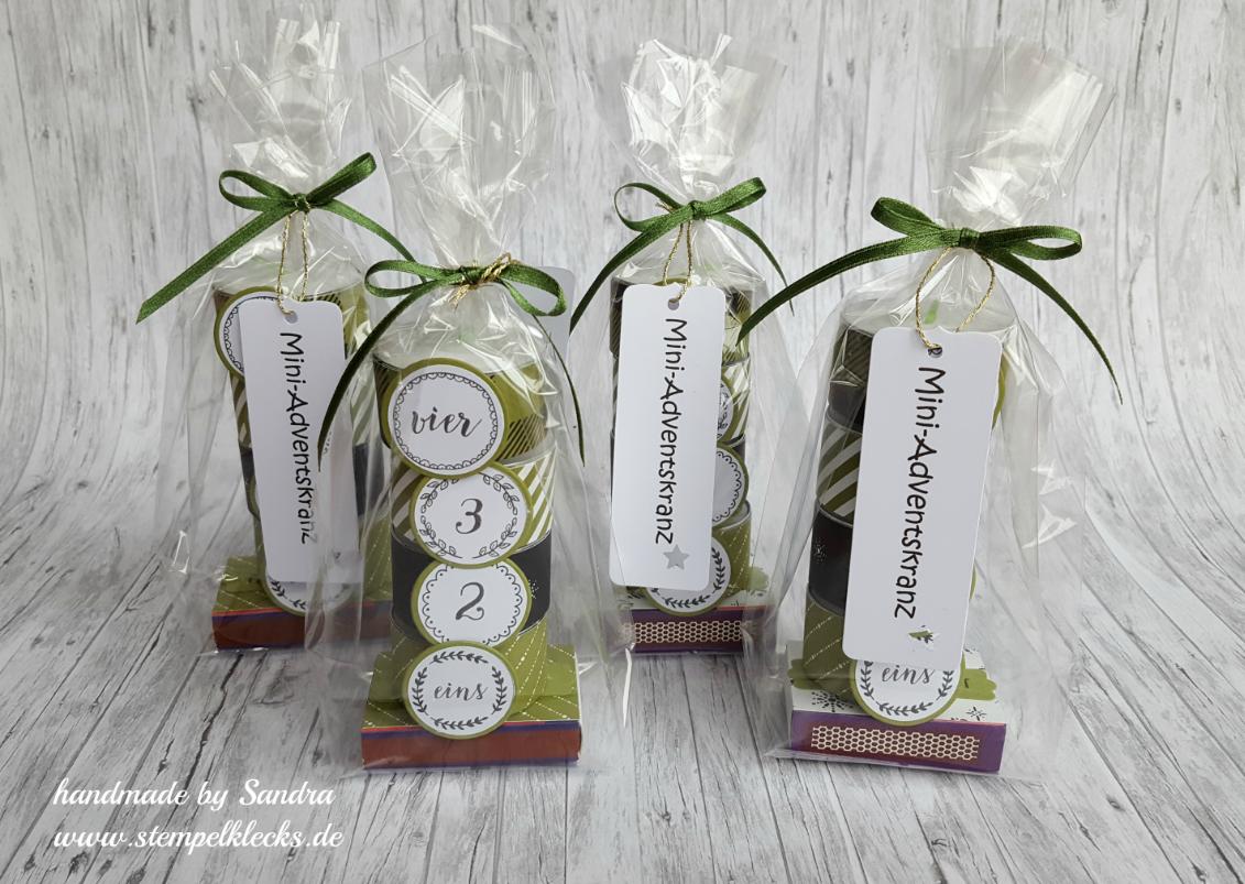 Mini-Adventskranz - Stempeln, Stanzen und Basteln mit