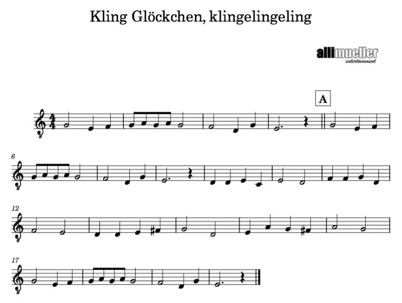 Fünf Weihnachtslieder in C-Dur - allimuellers Webseite!