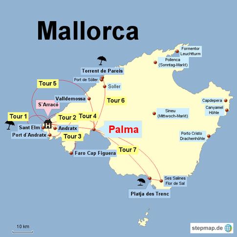Mallorca Karte Paguera.Mallorca Ausflüge Und Sehenswürdigkeiten Lupesi Travel Routes