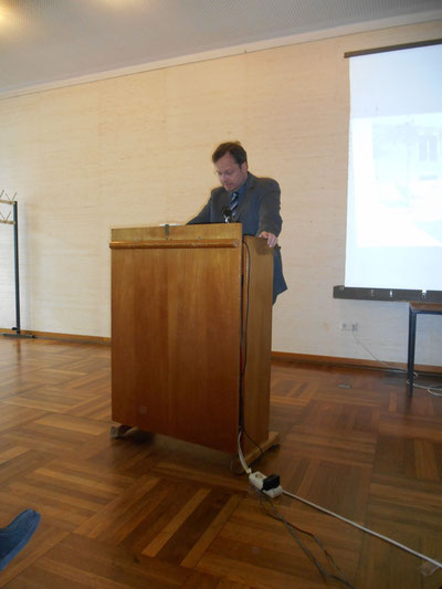 Martin Frenzel, Gründer & FLS-Vorsitzender während seiner Dankesrede GESICHT ZEIGEN!-Preis 2014, 20.05.14