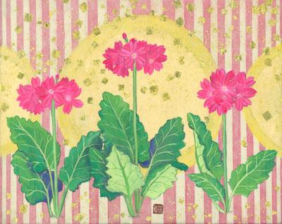 「春の余韻」F3 紙本着彩