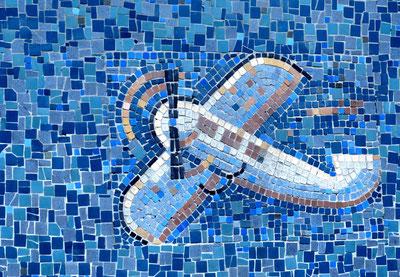 07. September 2016 -Von der Sihlpost zur Europaallee. Bescheiden die Kunst von Carl Roesch, welche 1930 die Technisierung der Post thematisierte (hier die Flugpost)