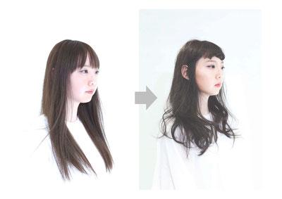 伸びっぱなし→小顔ロング