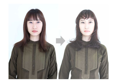 うりざね→小顔立体ロング