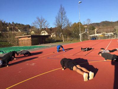 Outdoor-Training M's-GYM BERN ITTIGEN, März 2021