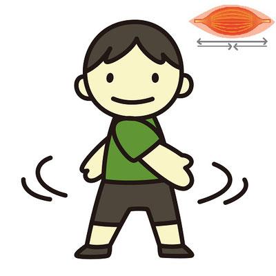 動的ストレッチの代表格、ラジオ体操
