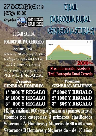 I TRAIL PAARROQUIA RURAL DE CERREDO - Cerredo (Asturias), 27-10-2019