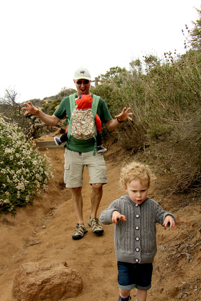 Hiking Torrey Pines Natural Reserve with Toddler and Baby
