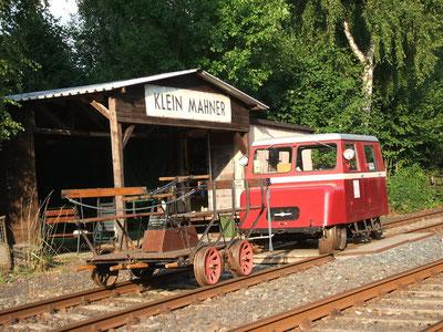Hand lever and railcar museum Kleinbahnhof Mahner
