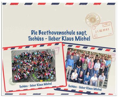 Die Beethovenschule sagt, Tschüss - lieber Klaus Michel