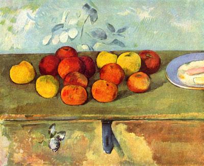 ポール・セザンヌ「リンゴとビスケット」1895年、オランジェリー美術館
