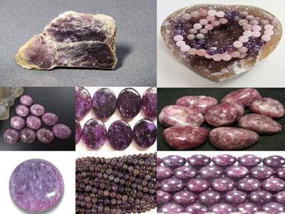 Lépidolite - lithothérapie - Boutique minéraux - casa bien-être