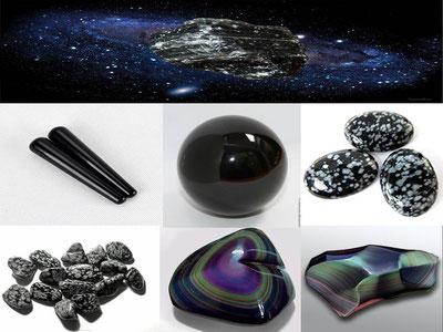 obsidienne - lithothérapie - boutique minéraux - casa bien-être