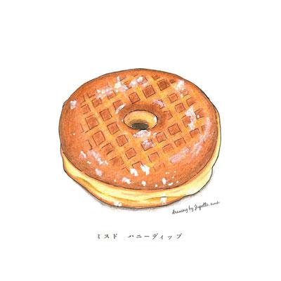 ドーナッツ 色鉛筆画