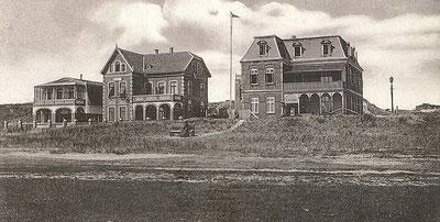 Villen im Westdorf, Billstraße : v.r.  Villa Sohn , Villa Marie-Luise , Villa Gartena ; 1921