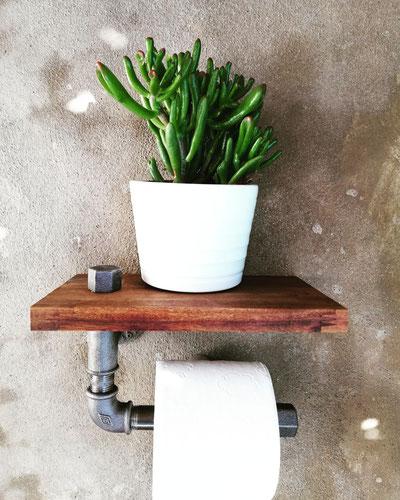 Vintage Design WC Papierhalter Toilettenpapierhalter Steampunk Papierabroller WcPapierhalter