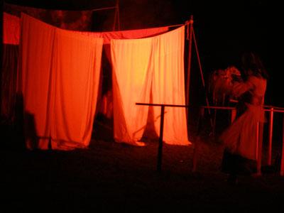 """""""Der Wechselbalg"""", TdhG, Amphitheater im Englischen Garten, 2012, Foto: GJ"""