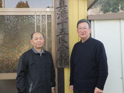 区長 鈴木 勲さん(右)会館部長 大倉 秀章さん(左)