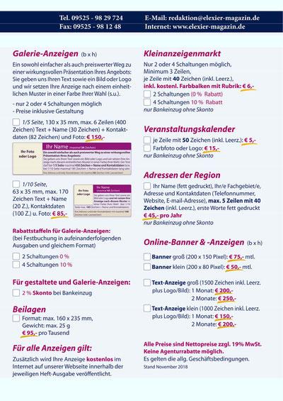 Elexier-Magazin Mediadaten