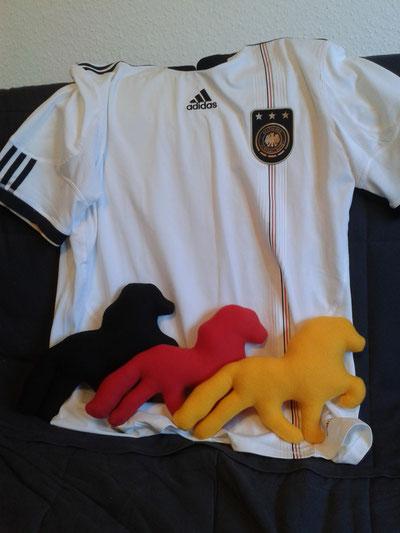 Flagge zeigen mit Ponykissen bei der Fußball-WM