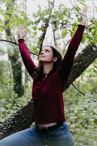 Hatha Vinyasa Yogakurs Osnabrück, Nicole High Lunge