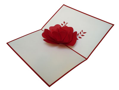 Carte pop-up coquelicot