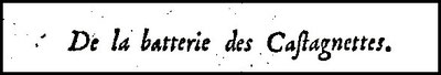 Titel von Feuillets  Castagnetten-Kapitel