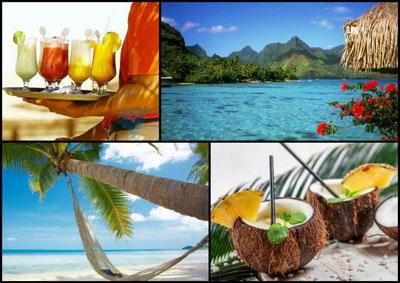 carraibe, mer plage, massage