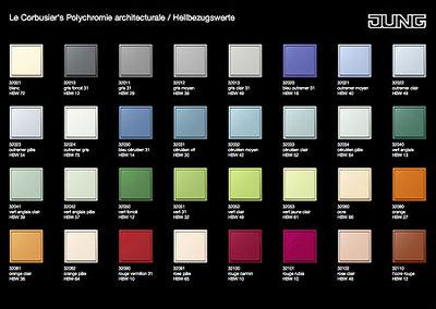 Die gesamte Le Corbusier-Farbpalette