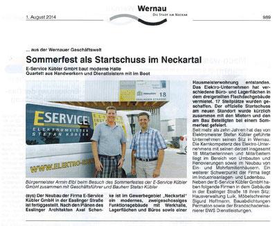 Wernauer Anzeiger - 1. August 2014