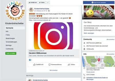 23.10.2020:  Die Kinderdrehscheibe berichtet von der Nominierung des Vereines Schultüte bei den Herzensprojekten und informiert zum Voting auf ihrer Facebookseite!