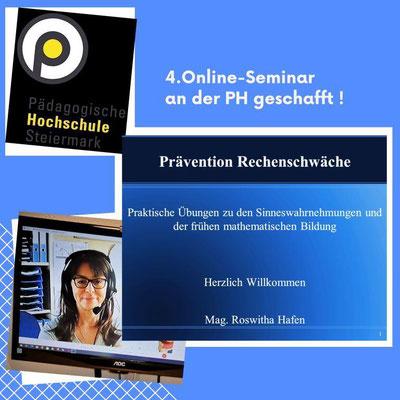 14. und 15.07.2021: Viertes Online-Seminar mit 24. VS-Pädagog*innen an der pädagogischen Hochschule Graz geschafft! Danke für die vielen positiven Rückmeldungen.