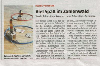 24.06.2020: Die Kleine Zeitung berichtet über die aktuellen Projekte vom Verein Schultüte.