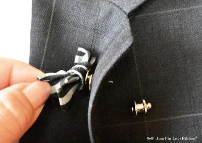 JourFin LoveRibbon ラブリボン フェイクファー カゴバッグ制作 クラフト リボン教室