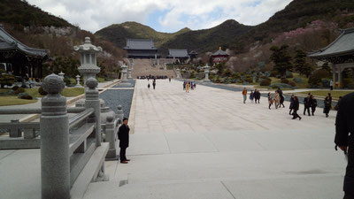山門から本堂への参道