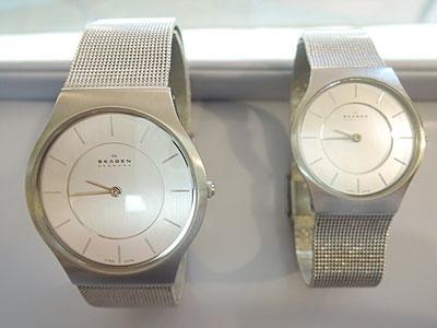 非常に薄くてスタイリッシュなSkagen(スカーゲン)腕時計の電池交換。スカーゲンの修理はメーカー対応となります。メーカーへの修理取次もお任せください。