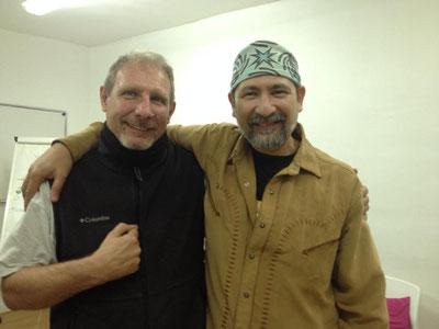 Le Chamane Indien Cheyenne Tony Paixao (Homme du Chemin rouge) et moi