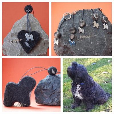 Erinnerung aus Hundefell ; Tibet Terrier Filz