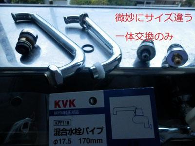 右が主流の16mm、MYMは17.5mm口径。